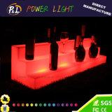 Color iluminado de los muebles del acontecimiento que cambia el estante plástico del vino del LED
