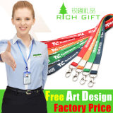 Kundenspezifisches Wholesale Ribon Printing Lanyard für Promotion Free Sample