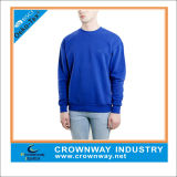 Men를 위한 왕 Blue Plain Crewneck Sweatshirt
