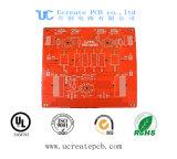Rojo tarjeta de múltiples capas del PWB de 4 capas para la electrónica