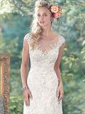 Мантии a Tulle шнурка Bridal официально - линия сексуальное платье венчания S201763 шариков
