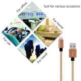 Het Nylon van de Kabel van de Lader van de bliksem vlechtte 8pin aan de Kabel van de Gegevens van Sync van de Last USB voor iPhone