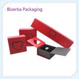 다채로운 마분지 실크를 가진 호화스러운 반지 선물 상자