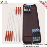 4PCS Stainless Steel Needleおよび3PCS U ForkのBBQ Tool Home Set