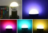 Светильник шарика цветов E27 E14 СИД RGB дистанционного управления 16 RGB Lighting+IR праздника Dimmable света пятна AC110V 220V 5W СИД RGB волшебный