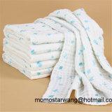 赤ん坊の綿モスリンは綿から成っている毛布のスリープの状態である看護カバーを包む