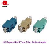 Tipo a dos caras RJ45 adaptador óptico del LC de fibra