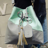Brand New Shoulder Handbags PU Drawstring Bucket Shoulder Bag Sy7677