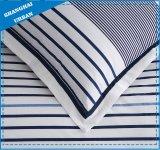 Lenzuolo fresco del cotone della banda del blu marino di disegno