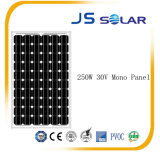 250W公認のモノラル結晶の太陽モジュール