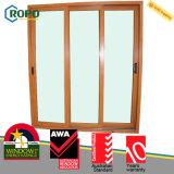 Fabricante plástico de madeira da porta de vidro de deslizamento da cor UPVC/PVC