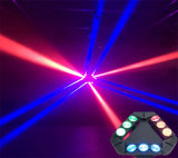 9PCS*10W luz principal movente da aranha do triângulo do CREE RGBW 4in1