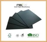 cartulina del papel del negro de la talla de 225GSM A4 para el embalaje