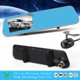 4.3inch el espejo DVR se dobla cámara, lente dual, coche DVR Xy-G500