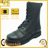 本革の黒の軍の戦闘用ブーツ