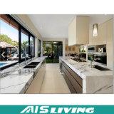 Mobília branca dos gabinetes de cozinha da laca de Matt (AIS-K265)