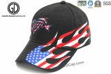 Чернота волка типа вышивки верхнего качества 3D холодная резвится бейсбольная кепка
