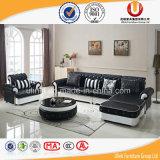 Sofá moderno preto, mobília de couro do sofá (UL-Z077B)
