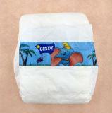La couche-culotte blanche de bébé de Backsheet de PE blanc la meilleur marché avec la bande de pp pour l'Afrique