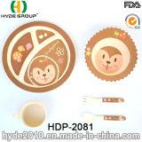 Jogos de bambu duráveis Eco-Friendly dos utensílios de mesa do bebê da fibra (HDP-2081)