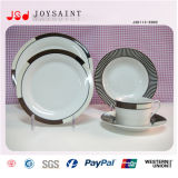 Padellame di ceramica personalizzato Jsdp-011 di figura rotonda della decalcomania)
