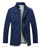 Revestimento ocasional por atacado do algodão do negócio dos homens dianteiros Wind-Proof da mola do OEM/Zipper do outono