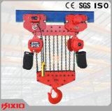Chinese Bouw materiaal-25 het Ton Vaste Hijstoestel van de Keten van het Type Elektrische