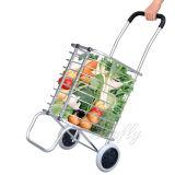 Bewegliche Supermarkt-Gepäck-Karre mit Aluminiumgefäß