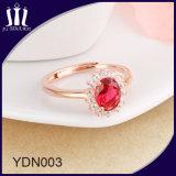Обручальное кольцо красного Gemstone корунда Bridal