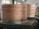 Fil plaqué de l'aluminium CCA d'en cuivre de cuivre de conducteur échoué