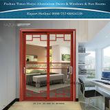 Porte en aluminium en métal de porte de bâti de porte en aluminium de profil