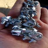 Clips de cuerda plateados cinc de alambre de acero