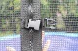 interactivo al aire libre del juego del trampolín del 10FT con la red de seguridad, trampolín del amortiguador auxiliar