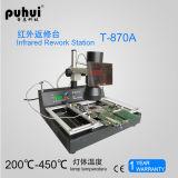 Puhui T870A madre del ordenador portátil estación de BGA, estación de soldadura infrarroja