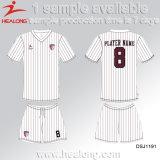 Healong新しいデザインスポーツ・ウェアのデジタル印刷のサッカーのユニフォーム