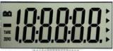 Visualización monocromática de Stn LCD con 18 dígitos negativos