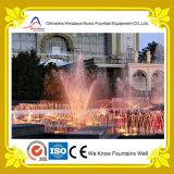 Fontaine au sol de danse de musique de fontaine de caractéristique colorée de l'eau