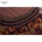 Maxi grossiste net Appliqued d'une seule pièce de robe de tissu de Mlle You Ailinna 102351