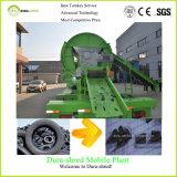 Máquina de corte e reciclagem de pneus de resíduos de triturador de eixo duplo a atacado