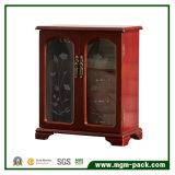 Caixa Table-Top de giro de madeira da loja de jóia