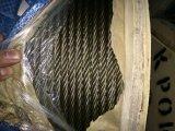 5%の持ち上がることのための黄色いグリースのUngalvanizedの鋼線ロープ6X37+FC