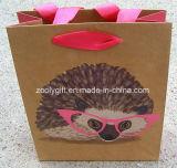 Réutiliser le sac amical de papier d'Eco emballage de sac à provisions de papier de Brown emballage