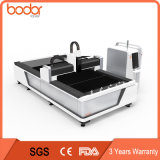 preço da máquina de estaca do laser da fibra 6000W com tampa cheia e tabela da troca