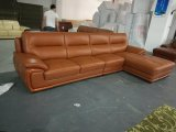 Salotto del cuoio di colore del Brown, sofà d'angolo di cuoio (656)