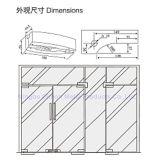Morsetto di vetro del portello della lega dell'acciaio inossidabile 304/alluminio di Dimon, zona che misura il vetro di 8-12mm, montaggio della zona per il portello di vetro (DM-MJ 500S)