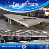 20ft 40ft de Semi Aanhangwagen van de Container voor flatbed Verkoop (en sekeleton optie)