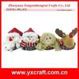 Boîte-cadeau, cadre de Noël, boîte-cadeau étonnante de Santa
