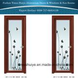 Puertas de aluminio del cuarto de baño del marco con el diseño de la flor para la decoración interior