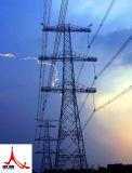 Линия башня передачи электроэнергии стали силы решетки башни угловая