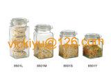 850ml хранение еды квадрата высокого качества ~ 1500ml стеклянное Jars серия с стеклянной крышкой
